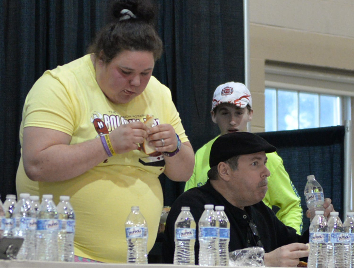 The Bologna Eating Contest at The Lebanon Rotary Club's Bologna Fest & Winter Carnival. The event was held on Saturday, January 26 at the Lebanon Valley Expo Center.