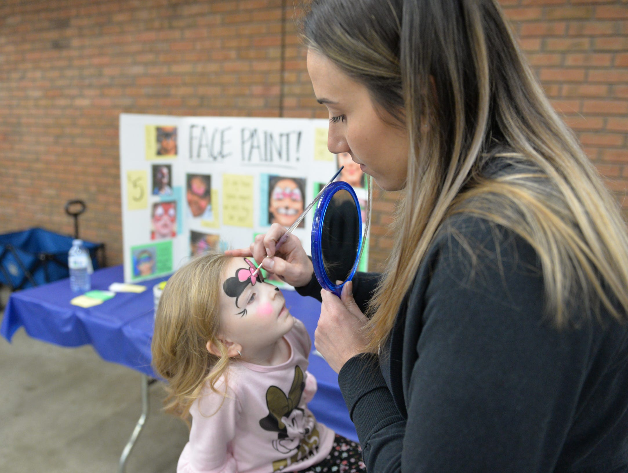 Face painting was on the agenda of two-year old Briella Buffington of Tower City, who visited The Lebanon Rotary Club's Bologna Fest & Winter Carnival with her grandmother on Saturday, January 26. The annual event was held at the Lebanon Valley Expo Center.