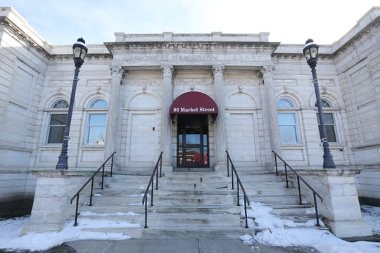 The Market Street entrance to Adriance Memorial Library in the City of Poughkeepsie on January 28, 2019.