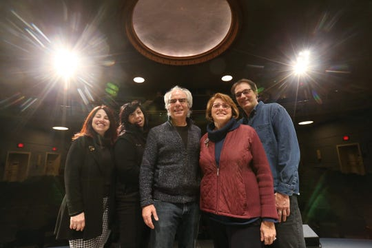 Bardavon executive staff, from left, general manager Ila Carnes, operations manager Donna Verteramo, executive director Chris Silva managing director of administration & finance Annmarie Faust, and managing director of theatre production Stephen Lamarca on stage at the Bardavon 1869 Opera House in the City of Poughkeepsie on January 22, 2019.