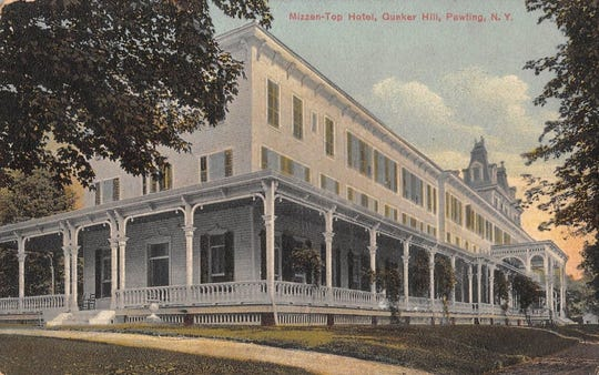 The Mizzen-Top Hotel once stood atop Quaker Hill in Pawling, 1,300 feet above sea level, offering spectacular views of the Harlem Valley. The hotel, which opened in 1881, offered first-class accommodations.