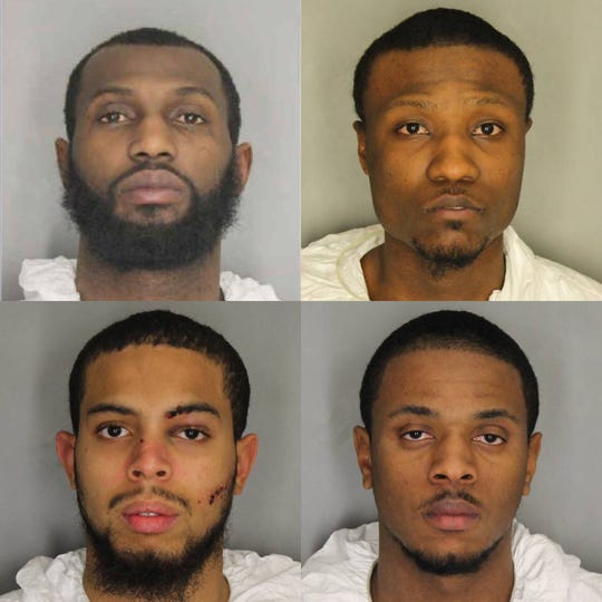 Clockwise from top left: Steven Williams, 29, of the Town of Poughkeepsie; Tysheed McPhee, 23, of the City of Poughkeepsie; Kyreem Seiman, 18, of the City of Poughkeepsie; and Donnell Johnson, 24, of the City of Poughkeepsie.