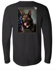 Clothing like this is being sold online to benefit Newberry Township Police's K-9 program.
