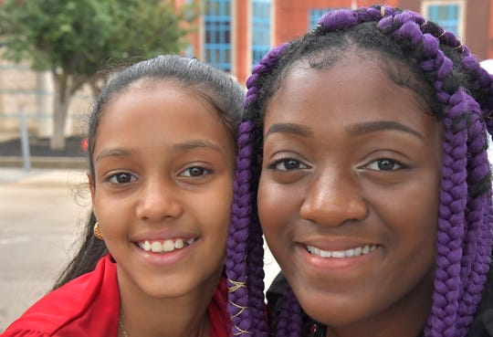 Shalined Torres, left, and Joy Nkechi Agummadu documente their Salem Square neighborhood in York City. A showing of the video they produced will be 2 p.m. Feb. 10, 2019 at Lincoln Charter School.