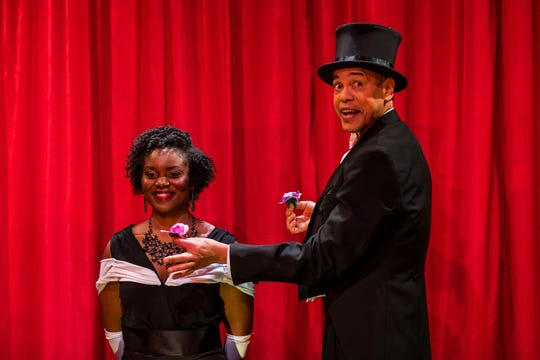 Tyrone Mitchell Henderson and Brittany Bellizeare in 'The Magician's Daughter.'
