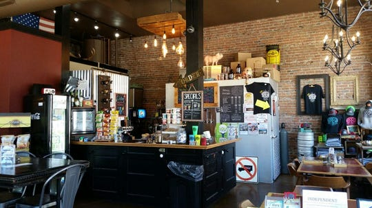 The interior of Brew Coffee & Tap House in Independence, which opened in July 2016.