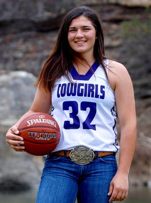 Mason High School senior Ruby Magnus was all-state in 2018 after leading the Cowgirls to the Class 2A state basketball tournament for the first  time in school history.