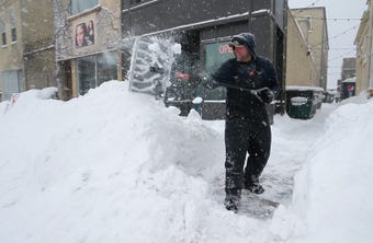 A video of Sheboygan digging out of a snow storm.