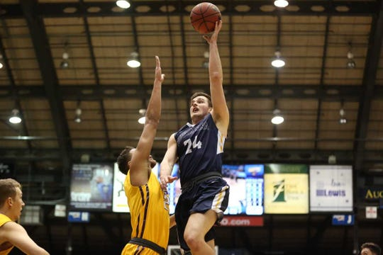 Augustana's Michael Schaefer had a career-high 27 points in Sunday's loss to MSU-Mankato