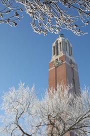 The Campanile on the South Dakota State University campus.
