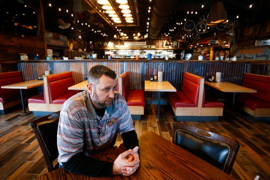 Josh Rasmussen, one of the partners who owns Flat Creek, talks about the new location in Republic on Monday, Jan. 28, 2019.