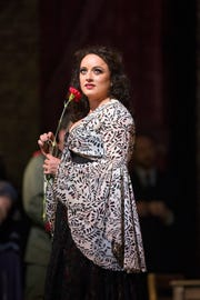 """Clémentine Margaine in the title role of Bizet's """"Carmen."""""""
