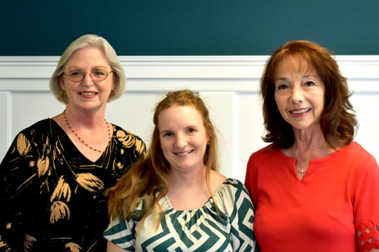Indian River State College Dean of Industrial Education Donna Rivett, left, Christina Posavec, director of Asbury United Methodist Academy, and Susan Donovan, president-elect, Childcare Resources Board of Directors.