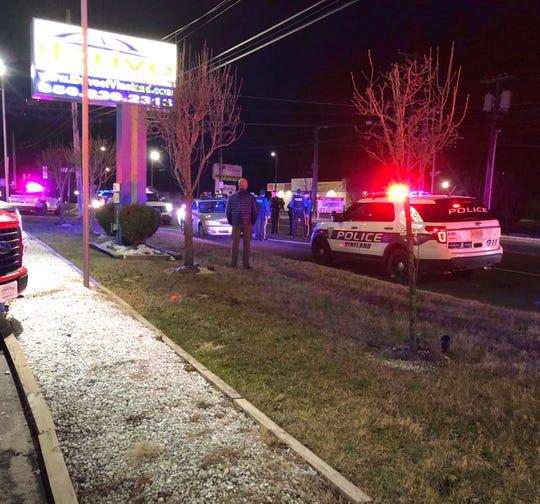 Vineland Police investigating a pedestrian/motor vehicle collision Jan. 27 on South Delsea Drive, near Foster Avenue, Vineland.