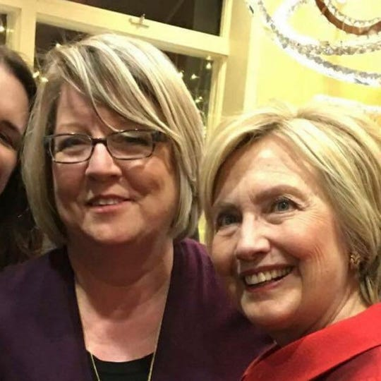 Dawn Greenberg with Hillary Clinton