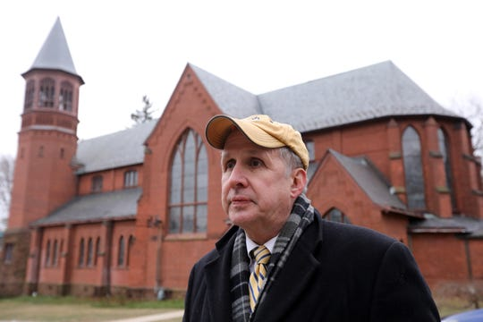 Nyack native Dennis Lynch outside St. Ann's Church in Nyack, where he and his family were brought up, Jan. 23, 2019. Lynch, known as a ferocious advocate for his clients as a lawyer, has an altruistic side that he credits to his Catholic faith.