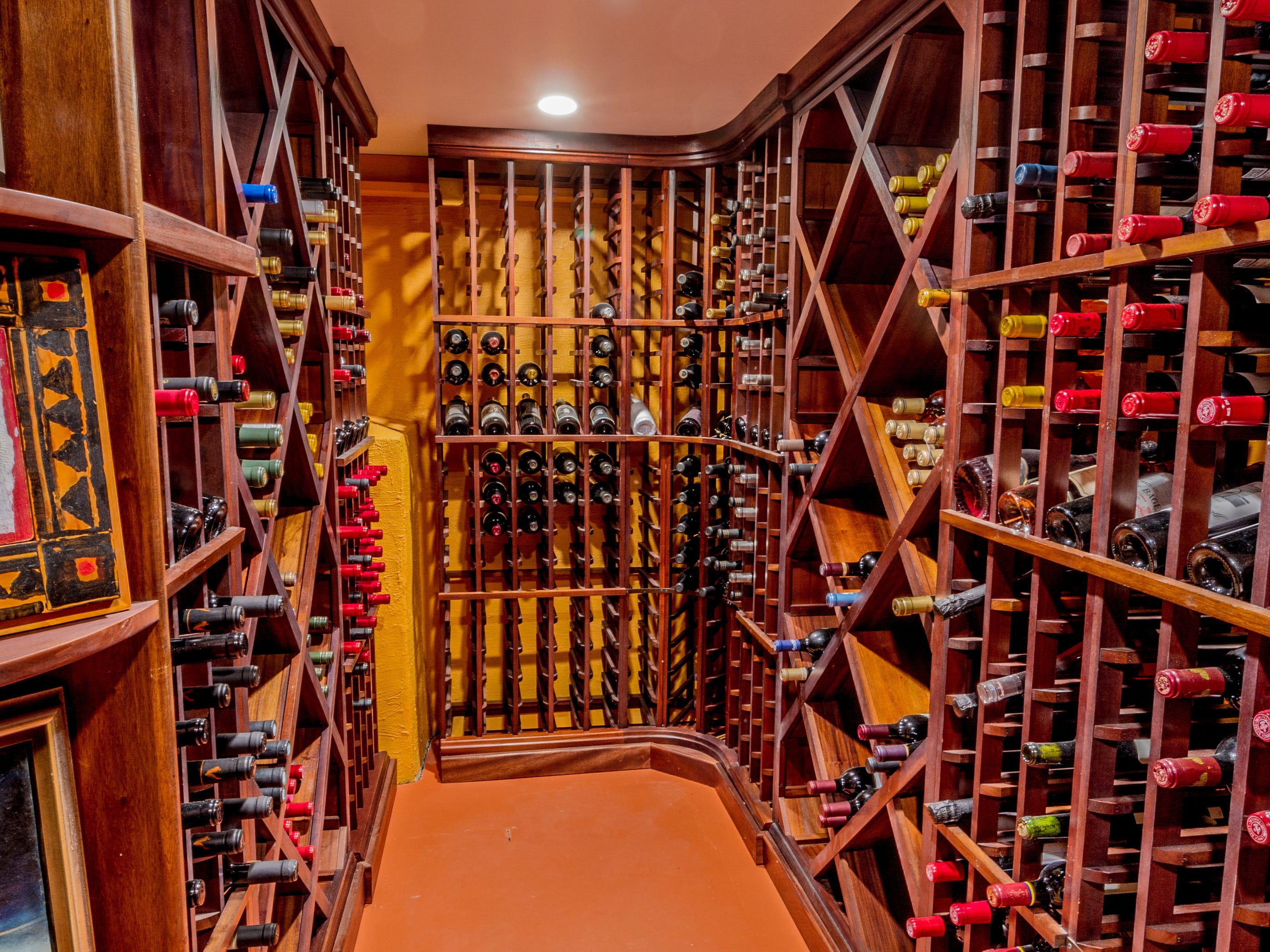 The house at 1100 N. Rodney St. in Cool Spring has its own wine cellar.