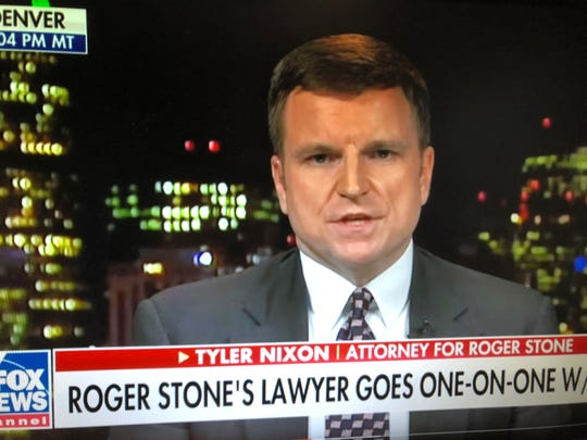 Tyler Nixon appeared on Fox News after Roger Stone was indicted and arrested by the FBI.