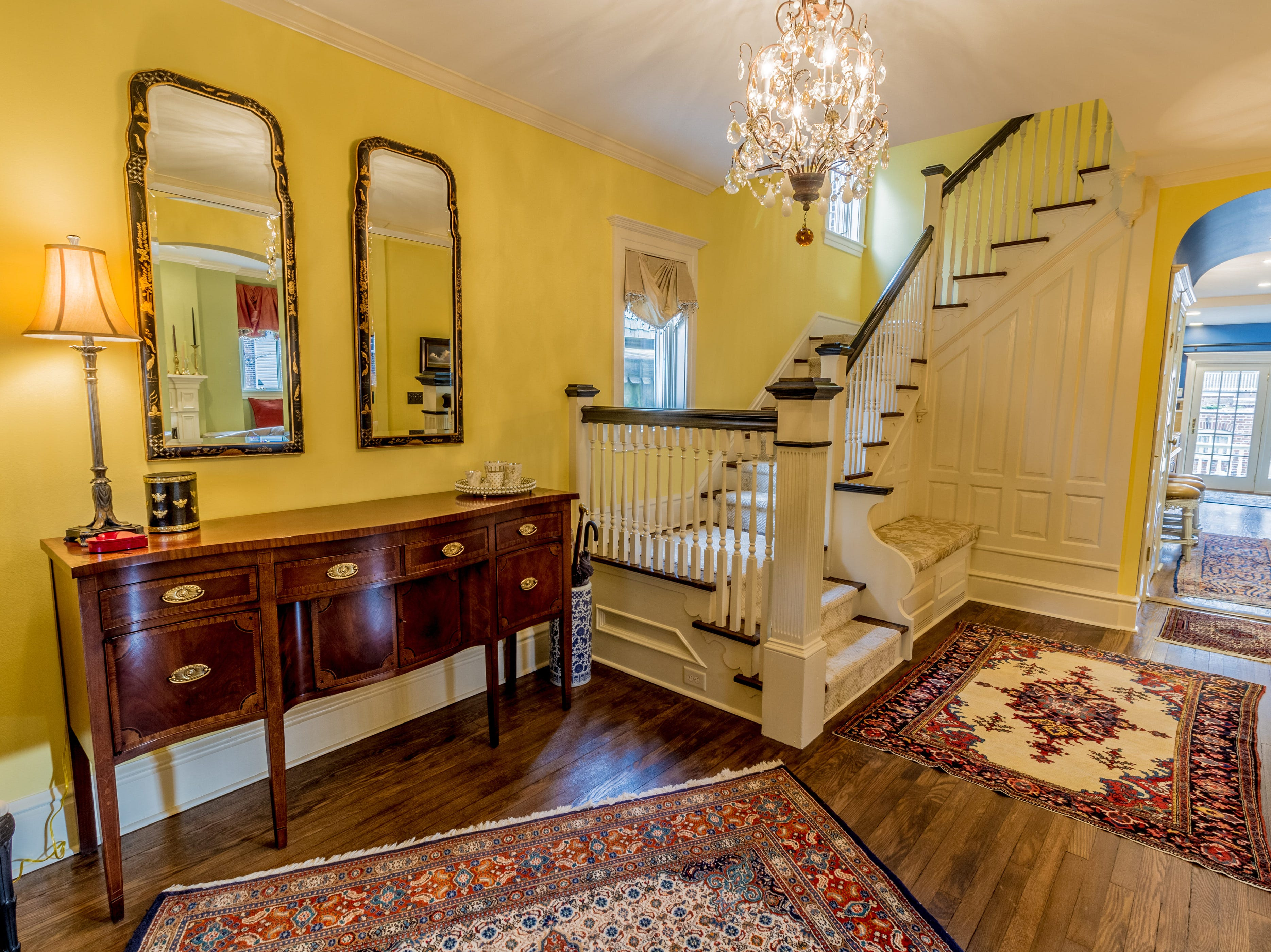 The Cool Spring house at 1100 North Rodney features archways and a turned staircase.