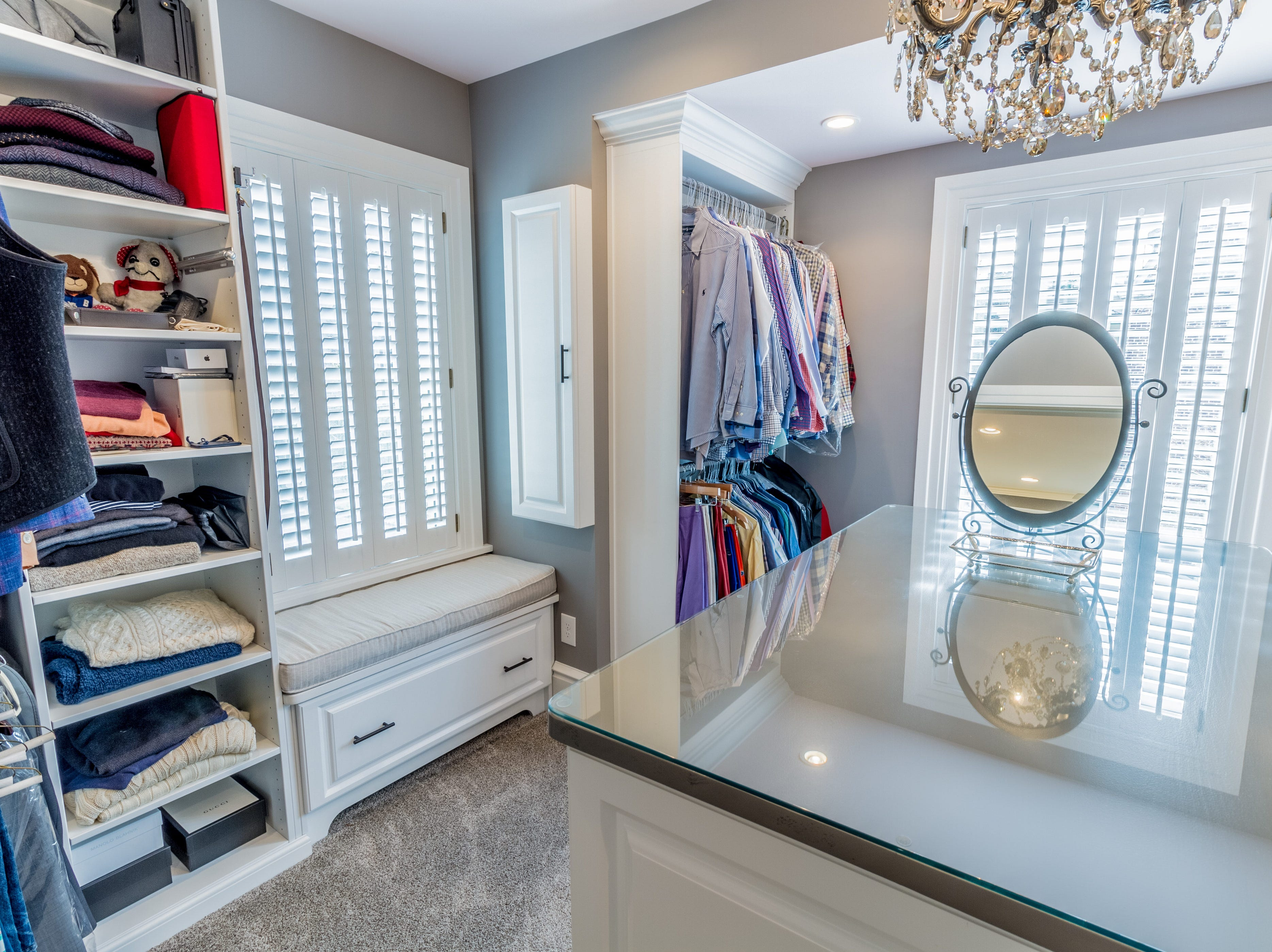 The master suite in the house at 11 N. Rodney St. includes a room-size walk-in closet.