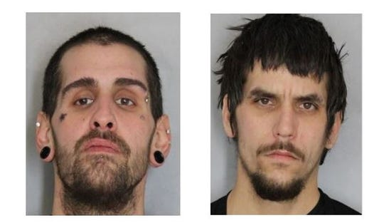 Walter E. Ludlow III, 34,  and Robert White, 28,  both of New Castle were charged with two counts of first-degree robbery and second-degree conspiracy. Ludlow was additionally charged with wearing a disguise during the commission of a felony.