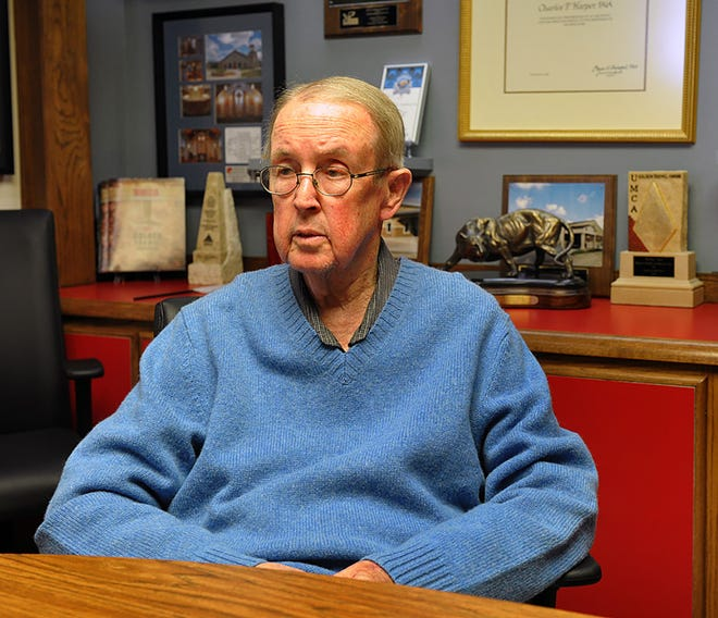 Charles Harper talks about his 50-year career as an architect designing buildings in Wichita Falls and across the region in this 2014 file photo. Harper also served on the City Council and was Mayor of Wichita Falls from 1986-1988.