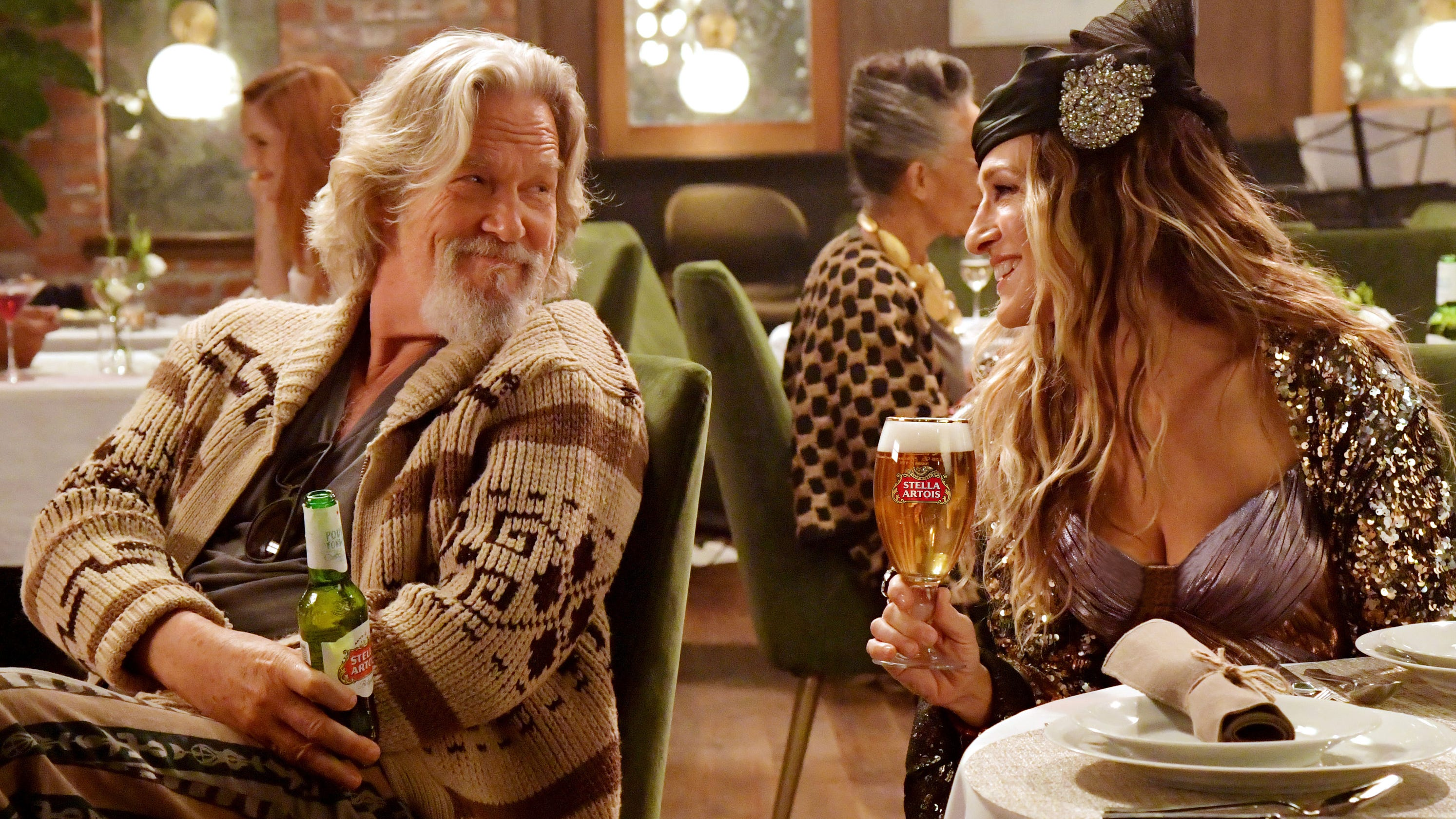 01b6e1ef5a Carrie Bradshaw and The Dude from  Big Lebowski  are back for Stella  Artois  Super Bowl ad