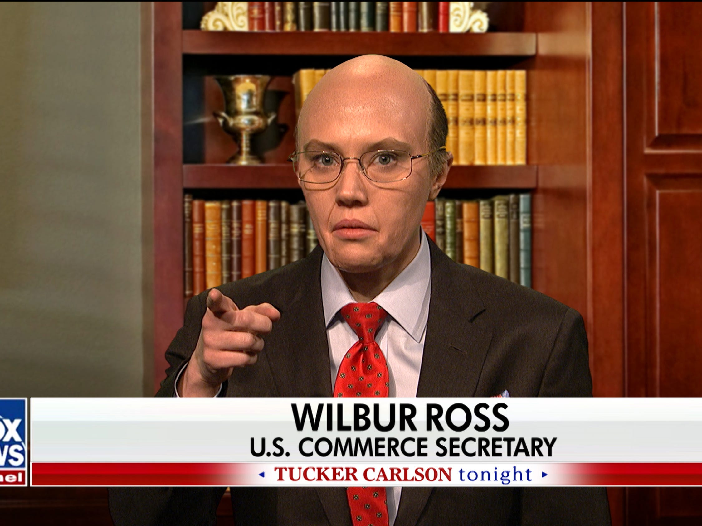 "Appearing as Commerce Secretary Wilbur Ross, Kate McKinnon made light of his a comment in which he advised furloughed federal workers to take out loans to tide them over rather than seek help from food banks. ""That was silly of me,"" her Ross deadpanned. ""I simply meant there are other ways to get money, like liquidating their stocks or selling a painting. Even a lesser Picasso will get you through a week or two of yacht maintenance."""