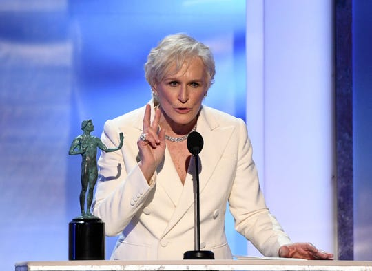 "Glenn Close racked up yet another best lead actress win for her role in ""The Wife."""