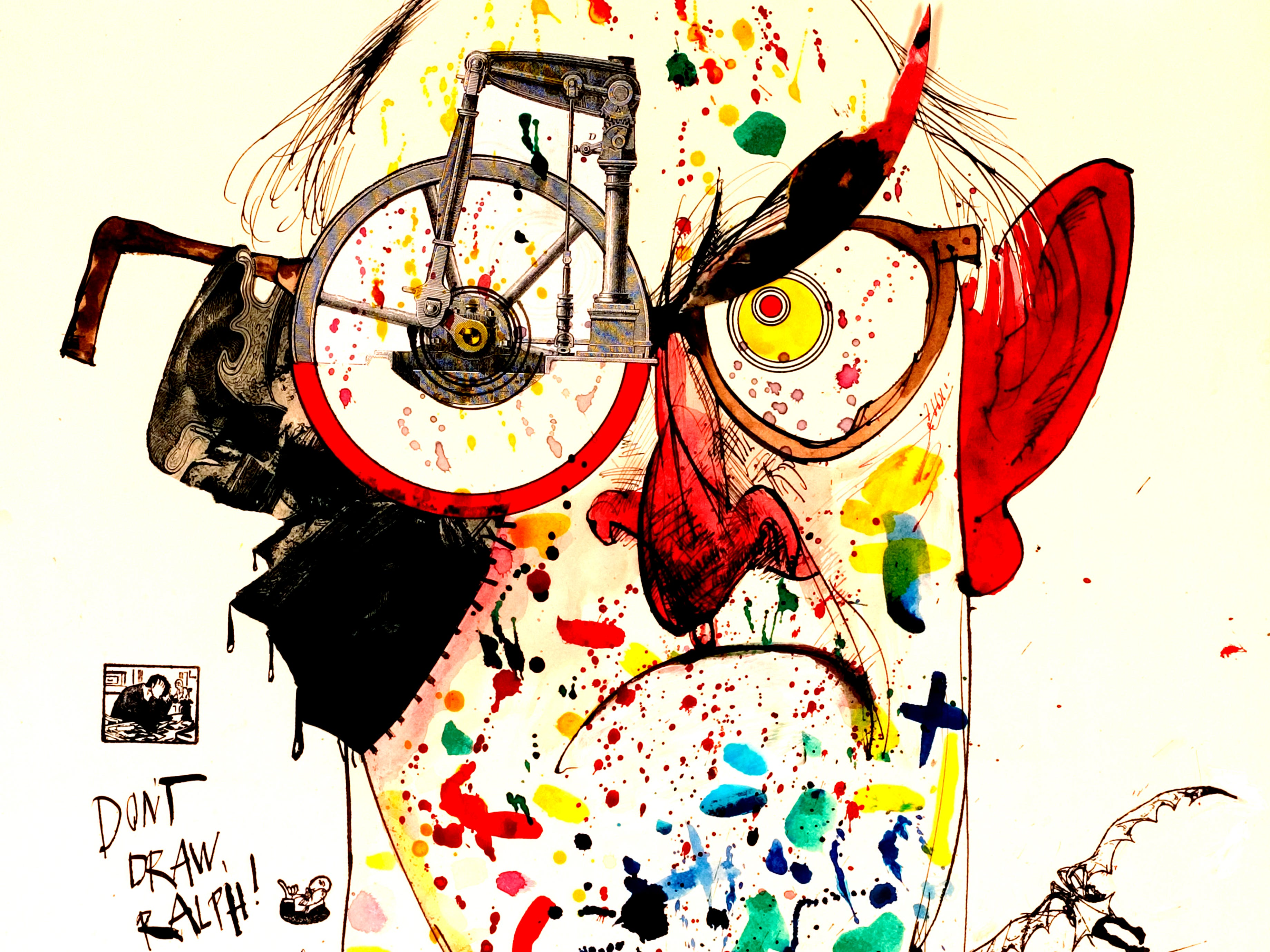 The University of Kentucky Art Museum is one of only three American museums to host a touring exhibition dedicated to Ralph Steadman's work.