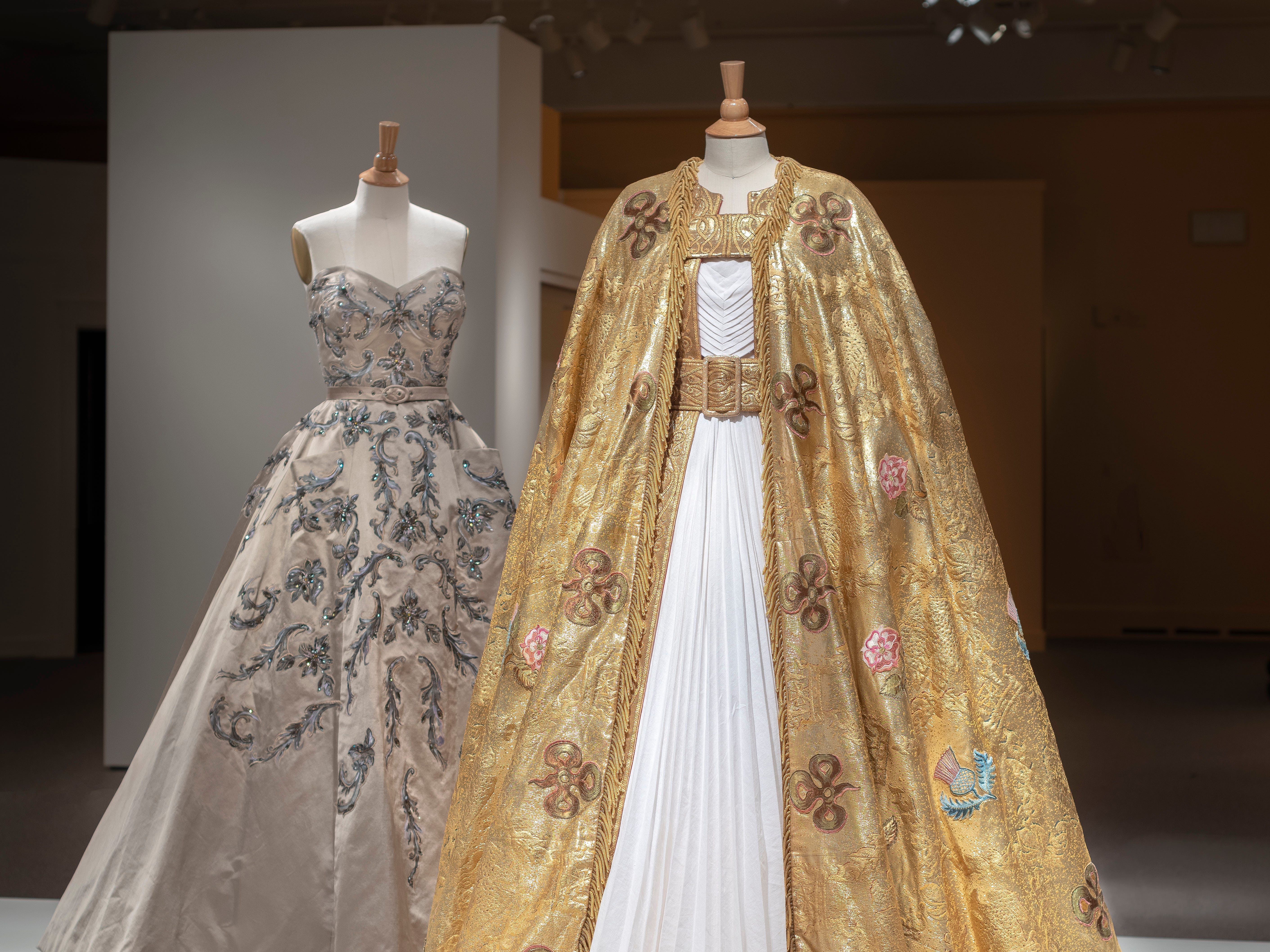 """The show """"The Crown,"""" which dramatizes Queen Elizabeth II's early reign, features carefully fabricated replicas of the dresses, uniforms, crowns and tiaras that are associated with the family."""