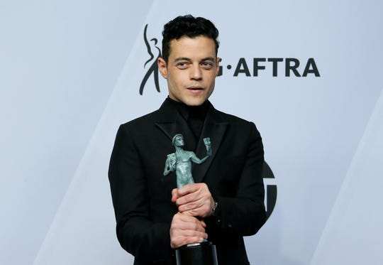 Rami Malek was in high spirits after his win.