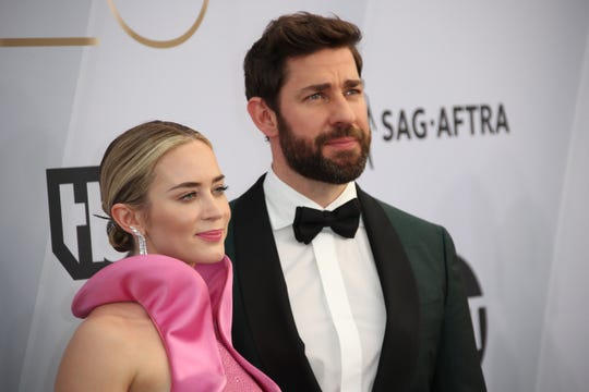 The glam couple of the night: Emily Blunt and John Krasinski.
