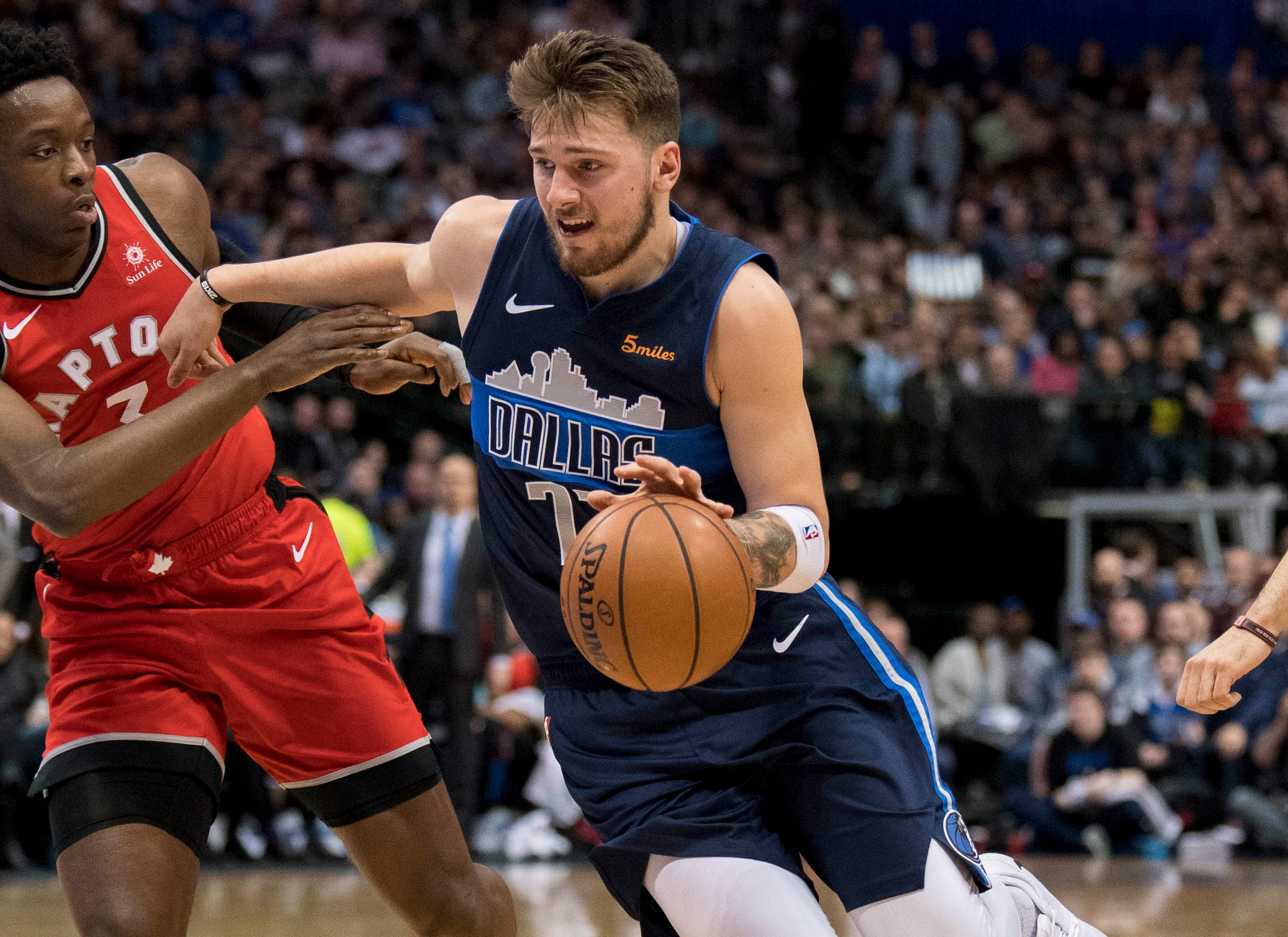 66. Luka Doncic, Mavericks (Jan. 27): 35 points, 12 rebounds, 10 assists in 123-120 loss to Raptors (second of season).