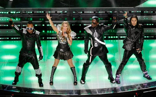 The Black Eyed Peas at the 2011 Super Bowl halftime show.