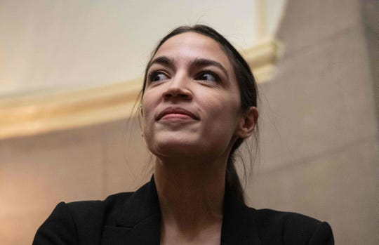 US Democratic Representative from New York Alexandria Ocasio Cortez looks on at the Capitol in Washington, DC, on January 16, 2019. (Photo by NICHOLAS KAMM / AFP)NICHOLAS KAMM/AFP/Getty Images ORG XMIT: 975 ORIG FILE ID: AFP_1CB1RG