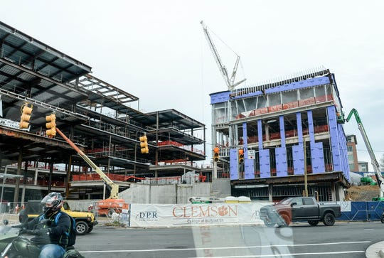 Clemson University College of Business construction in early 2019.