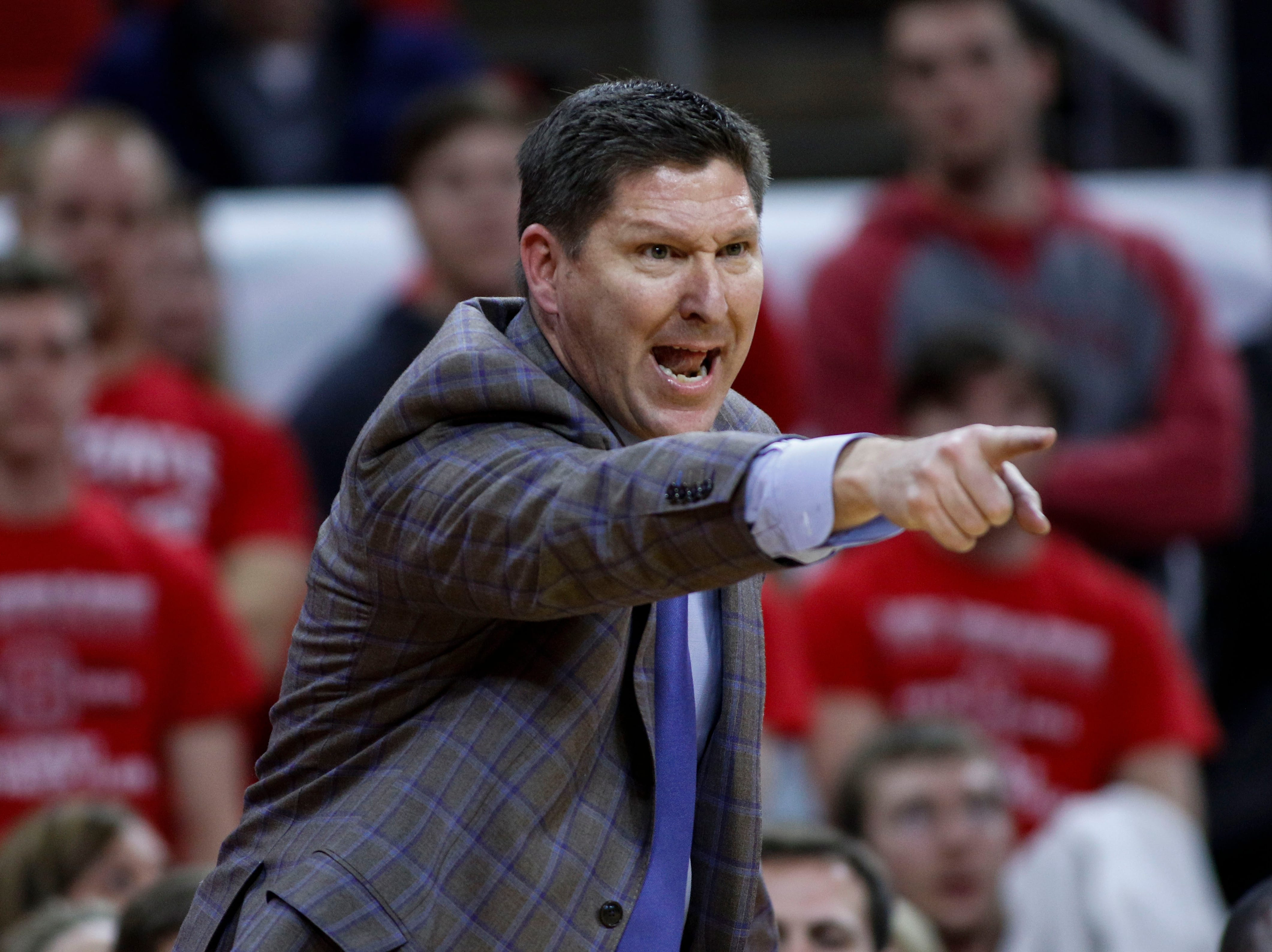 Jan 26, 2019; Raleigh, NC, USA; Clemson Tigers head coach Brad Brownell directs his team against the North Carolina State Wolfpack in the second half at PNC Arena. North Carolina State Wolfpack won 69-67. Mandatory Credit: Nell Redmond-USA TODAY Sports
