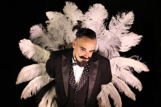 Broody Valentino performs with Burlesque-A-Pades Feb. 15 at the House of Independents in Asbury Park.