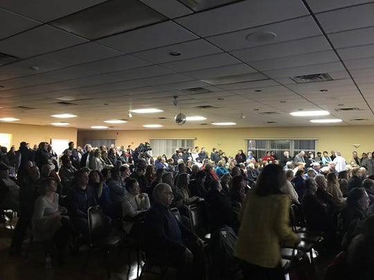 Tinton Falls residents pack the Hamilton Fire Co. for a meeting about odor from the Monmouth County Reclamation Center on Jan. 28, 2019.