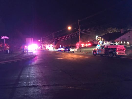 Authorities are on the scene of a fire on Atlantic Avenue in Wall.