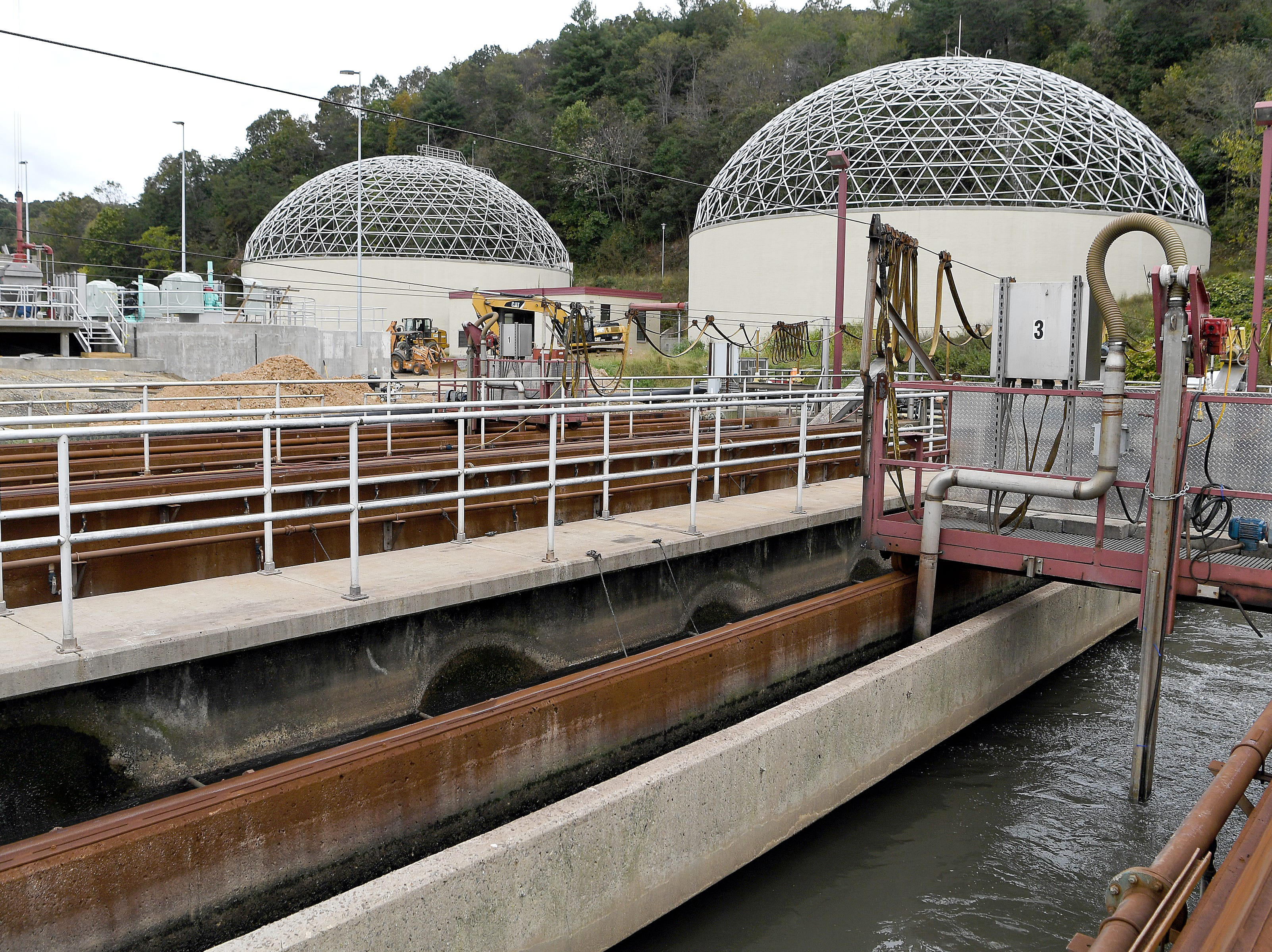 Wastewater is treated at the Metropolitan Sewerage District's water reclamation on Oct. 9, 2018.