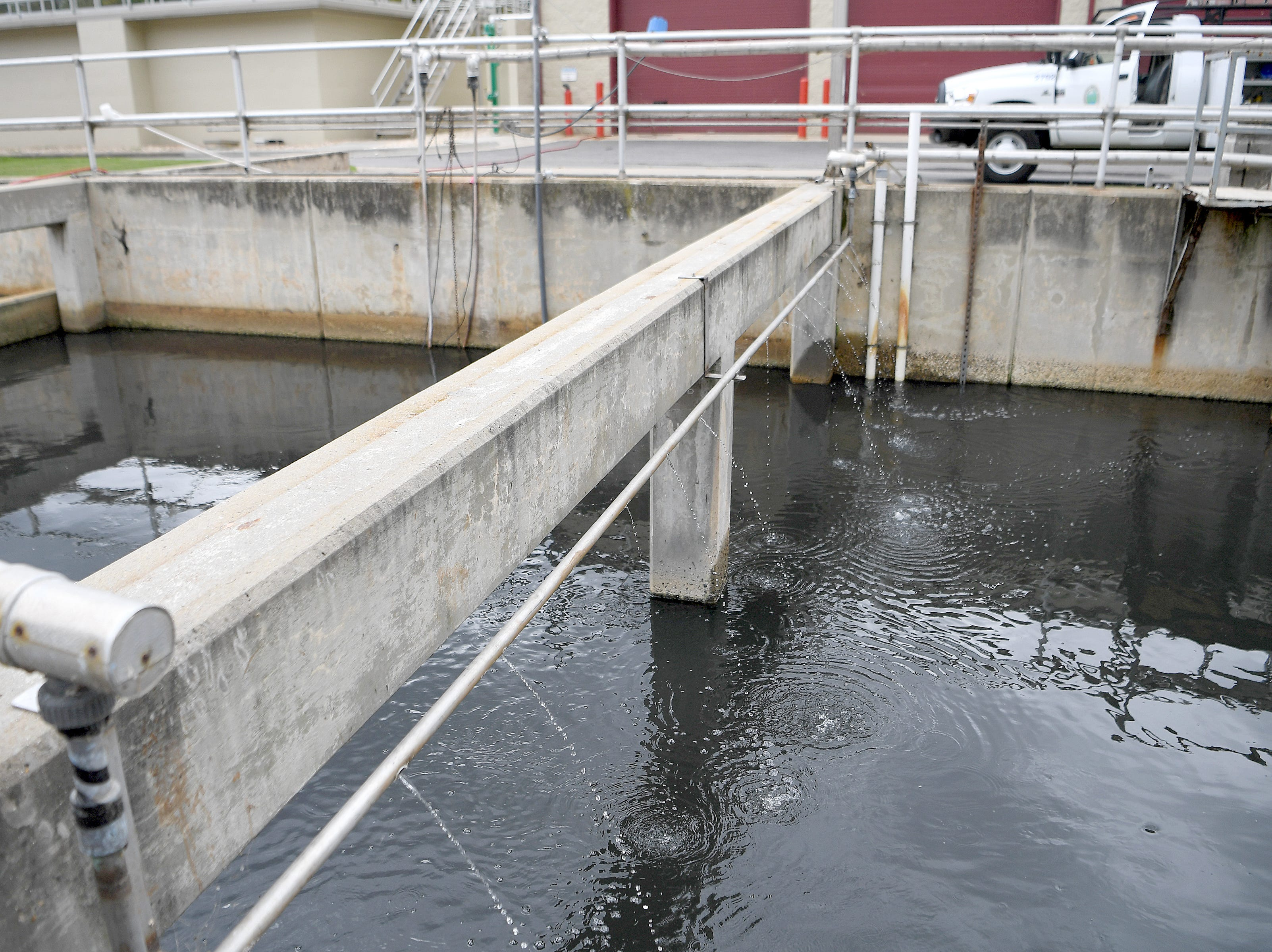 Sodium bisulfite is added to the water to reduce residual chlorine during treatment at the Metropolitan Sewerage District's water reclamation facility.