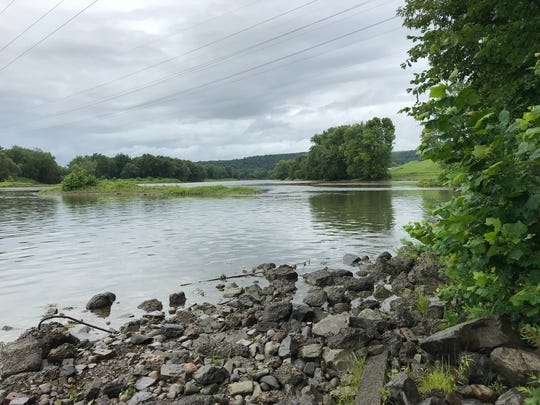The Susquehanna River after heavy rainfall.