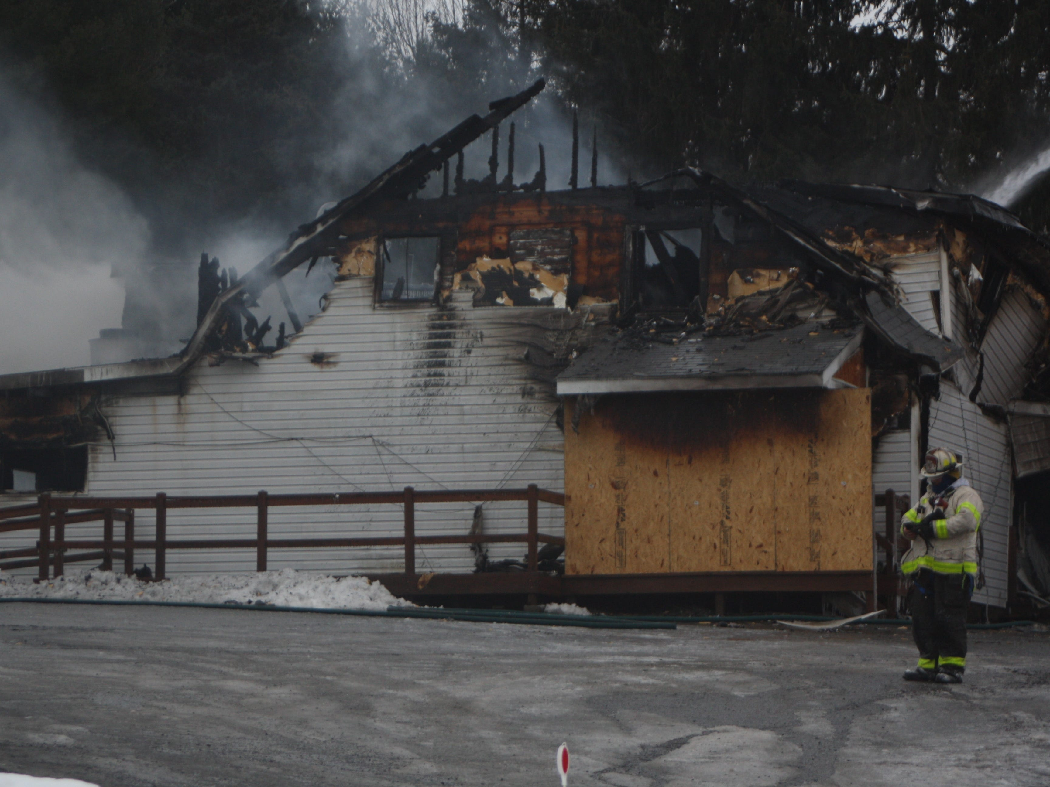 The Airport Inn, located on Airport Road in the Town of Maine, was determined a total loss after a fire ravaged the building early on Jan. 29.
