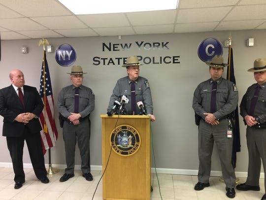 New  York State Police brief on Monday night shootout that injured a trooper on Route 17.