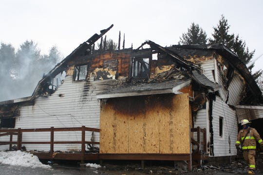 The Airport Inn in the Town of Maine is a total loss after a fire broke out Tuesday morning.