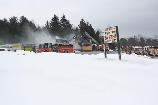The Airport Inn is Determined to be a total loss after a fire broke out at the Town of Maine eatery early Tuesday morning.