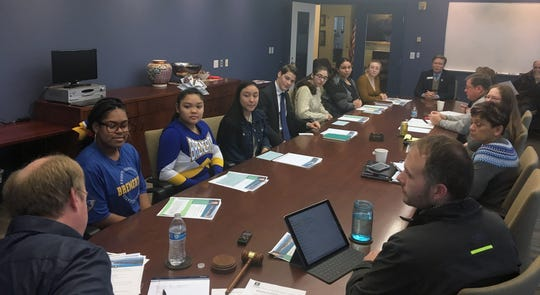 Students from Bremerton High School met on Jan. 23 with Bremerton city officials to share ideas. The newly formed Youth Leadership Council will visit City Hall quarterly, both groups agreed.