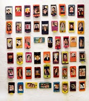 """The Selfie Project,"" an exhibition of embroidered sculptures, will be on display at the Foosaner Art Museum through May 25, 2019."